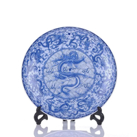 Various Decorative Blue Ceramic Hanging Plates
