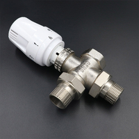 Vertical three-way temperature control valve