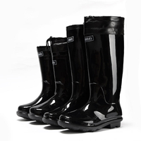 Plastic Rain Boots Anti-skid Wear-resistant PVC Bottom Labor Protection Plastic Rain Boots Single Shoes Rain Boots