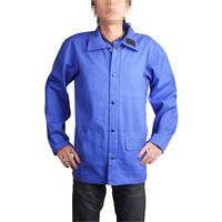 Blue fire retardant clothing top