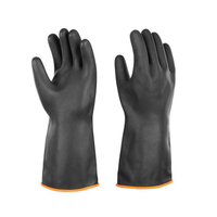 Acid And Alkali Resistant Rubber Chemical Protective Gloves