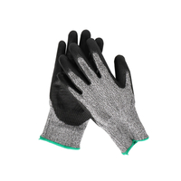Grade 5 Anti-cut PU Protective Gloves