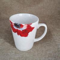 fine porcelain V shape ceramic mug with logo